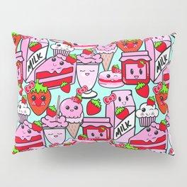 Kawaii Strawberries Pillow Sham