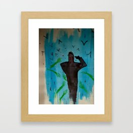 A Haunting. Framed Art Print