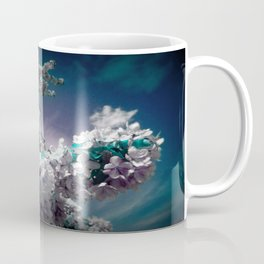 Flowers Purple & Teal Coffee Mug