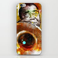 louis armstrong iPhone & iPod Skins featuring Louis Armstrong by Ed Pires