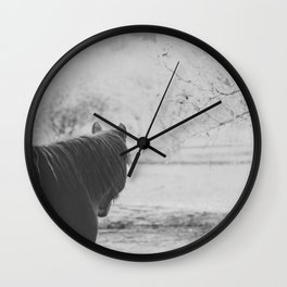 Horse I _ Photography Wall Clock
