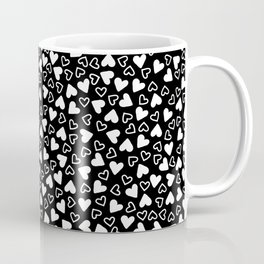 Mixup of Tiny White Hearts Coffee Mug