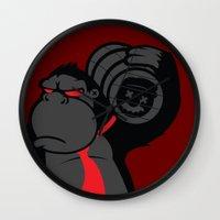 donkey kong Wall Clocks featuring Donkey Kong by La Manette