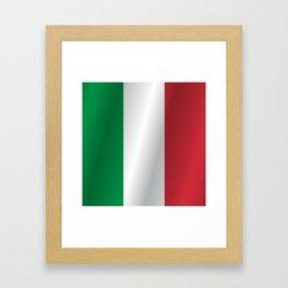 Flag of Italy Framed Art Print