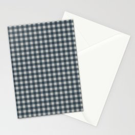 Blue Mirage | Tiny Check Pattern Stationery Cards