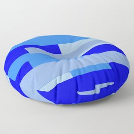 Blue Abstract Pattern Floor Pillow