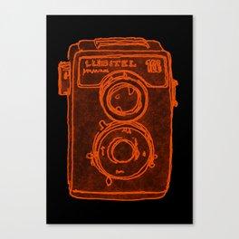 Blue Camera Canvas Print