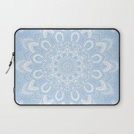 Boho Baby Blue Mandala Flower Laptop Sleeve