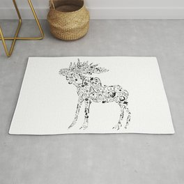 Many shapes of the Moose Rug