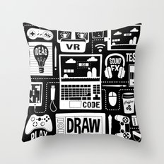 It's a Game Dev World Throw Pillow