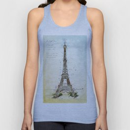 Eiffel Tower, Paris France Unisex Tank Top