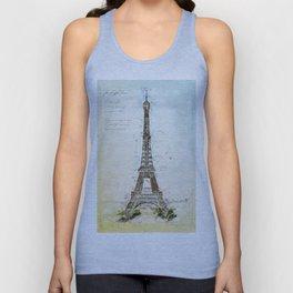 Eiffel Tower, Paris France Unisex Tank Top