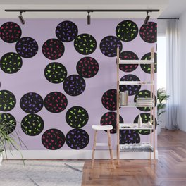 Black Globular with Spotting Color in it Wall Mural