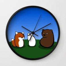 Animal Marshmallow Wall Clock