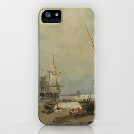 Constantinos Volanakis 1837-1907 GREEK MENDING THE NETS iPhone Case