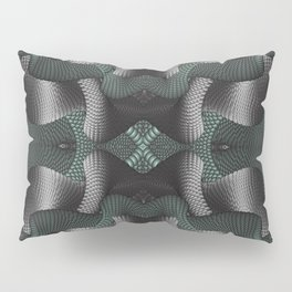 Black and green patterns Pillow Sham