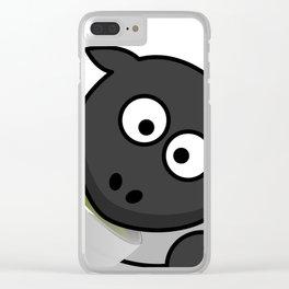 Cartoon Cute Sheep Clear iPhone Case