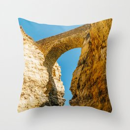 Stone Bridge Over Rock Formations In Lagos, Wall Art Print, Landscape Art, Poster Decor, Large Print Throw Pillow