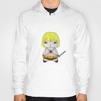 he man Hoodies featuring A Boy - He-Man by Christophe Chiozzi