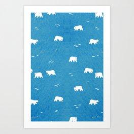 Polar Bears Pattern Art Print