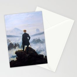 "Caspar David Friedrich ""Wanderer above the sea of fog"" Stationery Cards"