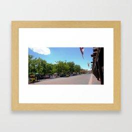Santa Fe Old Town Square, No. 3 of 7 Framed Art Print