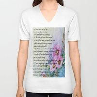 poem V-neck T-shirts featuring A Mother's Day Poem by Frankie Cat