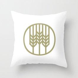 Wheat Circle Graphic Throw Pillow