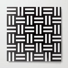 Geometric Pattern #35 (rail fence) Metal Print
