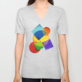 Candy Rainbow Geometric Unisex V-Neck