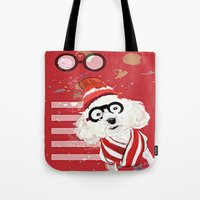 waldo Tote Bags featuring Wheres Waldo by grapeloverarts