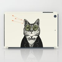 gentleman iPad Cases featuring Gentleman cat  by smallDrawing