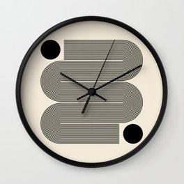 Abstraction_LINE_BLACK_DOT_VISUAL_ART_Minimlism_001A Wall Clock