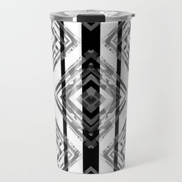 Black and White Tribal Boho Travel Mug
