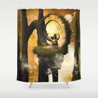 wonderland Shower Curtains featuring Wonderland  by nicky2342