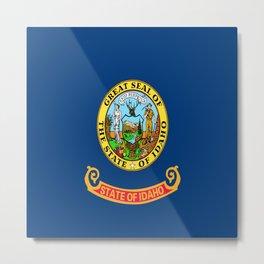 flag idaho,america,usa,west,Idahoan, gem state,Boise,countryside,nampa,pocatello. Metal Print
