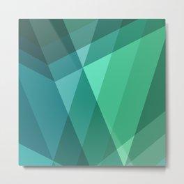 Fig. 046 Mint, Sea Green, Blue & Teal Geometric Metal Print