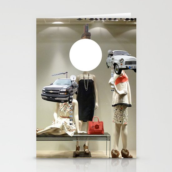 Max Kuhdamm Fashion Collage Stationery Cards