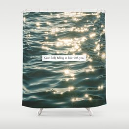 FALLING IN LOVE. Shower Curtain