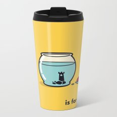 F is for freedom - the irony Metal Travel Mug