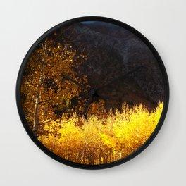 Golden Hour Wall Clock