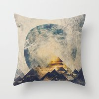 landscape Throw Pillows featuring One mountain at a time by HappyMelvin