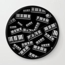 Piano pattern Wall Clock