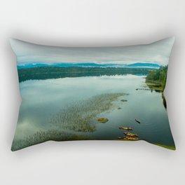 mahinapua sunrise kajak new zealand colors Rectangular Pillow