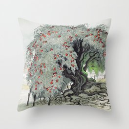 Old Tree At The Witch House Throw Pillow