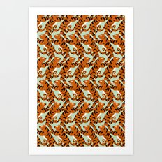 Tiger Conga pattern Art Print