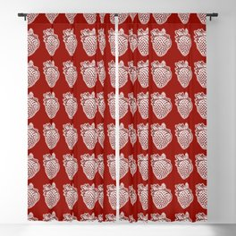 Red Strawberry Pattern Blackout Curtain