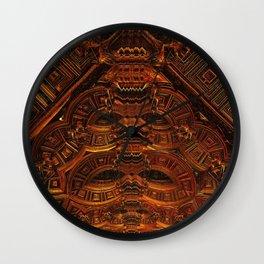 Copper Totem Wall Clock