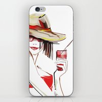 cocktail iPhone & iPod Skins featuring cocktail by tatiana-teni