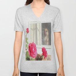 Tara's Rosey Window  Unisex V-Neck